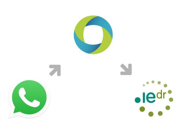WhatsApp Logo with LetsHost & IEDR Logo